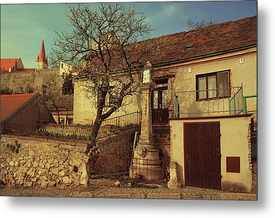 Old House In Znojmo. South Moravia Metal Print by Jenny Rainbow