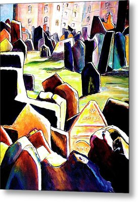 Old Jewish Cemetary In Prague Metal Print by Miki  Sion