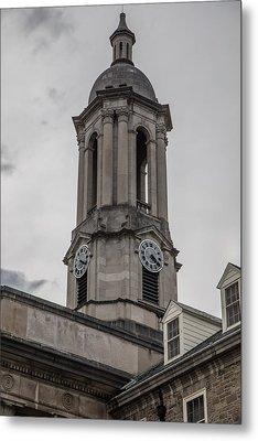 Old Main Penn State Clock  Metal Print by John McGraw