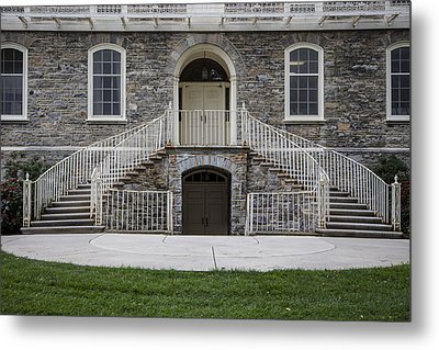 Old Main Penn State Stairs  Metal Print by John McGraw