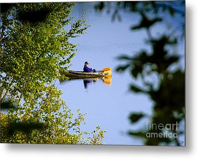 Old Man On The Lake Metal Print by David Lee Thompson