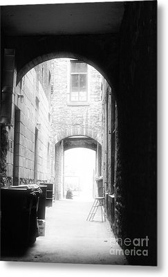 Old Montreal Alley Metal Print by John Rizzuto