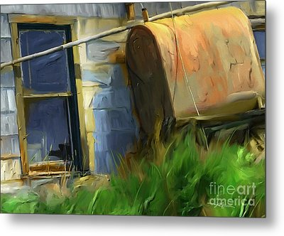 old oil tank P.E.I. Metal Print by Bob Salo