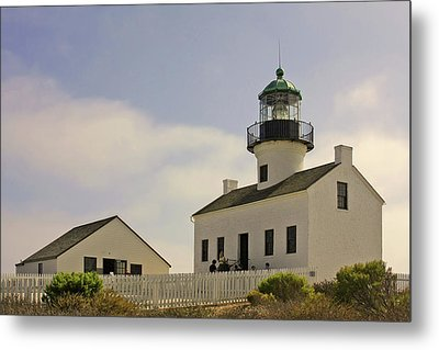 Old Point Loma Lighthouse - Cabrillo National Monument San Diego Ca Metal Print by Christine Till