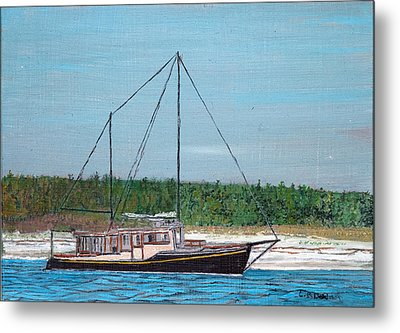 Old Pung In Maine Metal Print by Laurence Dahlmer