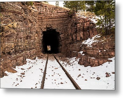 Old Railroad Tunnel Metal Print by Sue Smith