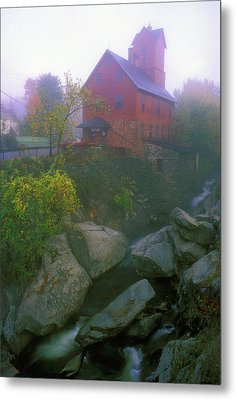 Old Red Mill Jericho Vermont Metal Print by John Burk