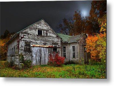 Old School House In Autumn Metal Print by Julie Dant