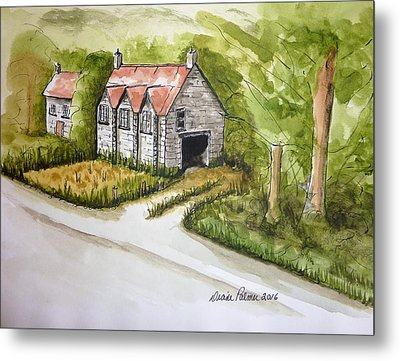 Old Scottish Stone Barn Metal Print by Diane Palmer