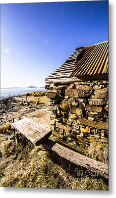 Old Stone Coastal Boat House Metal Print by Jorgo Photography - Wall Art Gallery