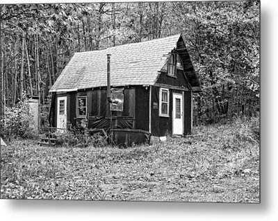 Old Tarpaper Shack Black And White Photo Metal Print by Keith Webber Jr