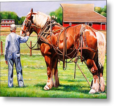 Old Timers Metal Print by Toni Grote