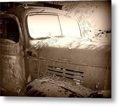 Old Tow Truck Metal Print by Dana  Oliver