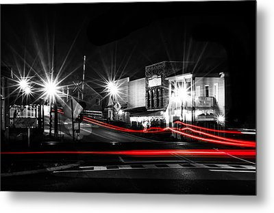 Old Town Helena At Night Metal Print by Shelby  Young