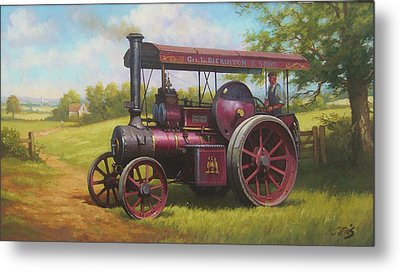 Old Traction Engine. Metal Print by Mike  Jeffries
