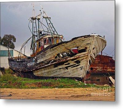 Old Trawler Metal Print by Jose Elias - Sofia Pereira
