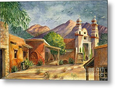 Old Tucson Metal Print by Marilyn Smith