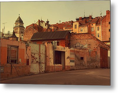 Old Walls Of Znojmo Metal Print by Jenny Rainbow