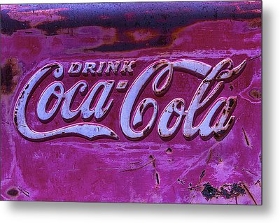 Old Weathered Coke Sign Metal Print by Garry Gay