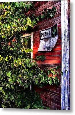 Old Williams Indiana Feed Mill Detail Metal Print by Julie Dant