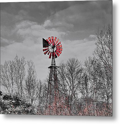 Old Wind Mill Metal Print by Robert Pearson