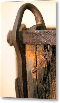 Old Wooden Barrel At The Ore Mine Sweden Metal Print by Dagmar Batyahav