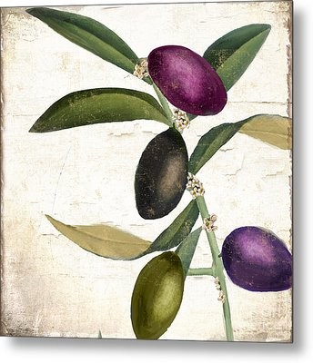 Olive Branch Iv Metal Print by Mindy Sommers
