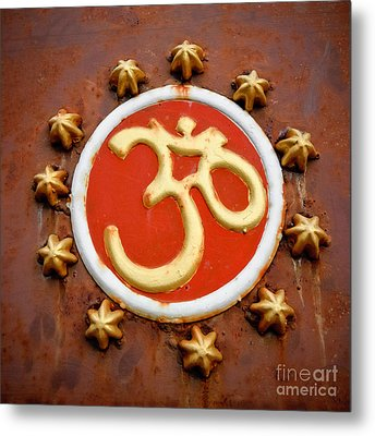 Om Metal Print by Dev Gogoi