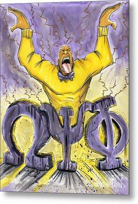 Omega Psi Phi Fraternity Inc Metal Print by Tu-Kwon Thomas