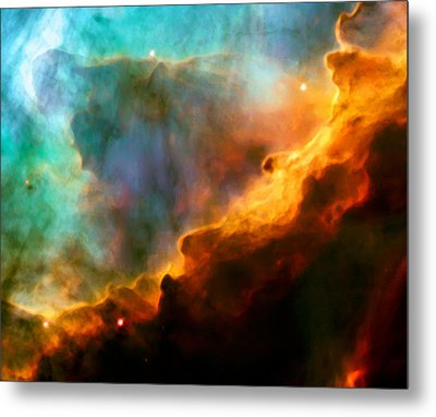 Omega Swan Nebula 3 Metal Print by The  Vault - Jennifer Rondinelli Reilly