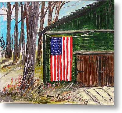 On A Veteran's Barn Metal Print by John Williams