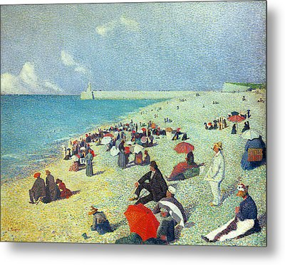 On The Beach Metal Print by Leon Pourtau