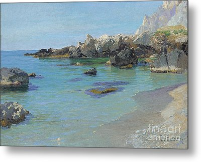 On The Capri Coast Metal Print by Paul von Spaun