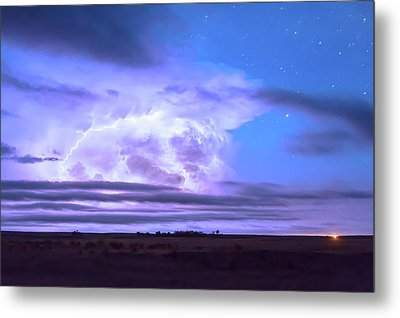 On The Edge Of A Storm Metal Print by James BO Insogna