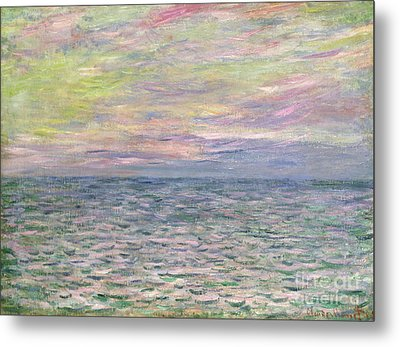 On The High Seas Metal Print by Claude Monet