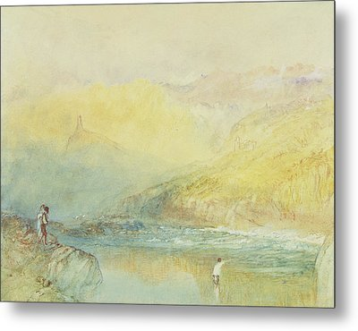 On The Mosell, Near Traben Trarabach Metal Print by Joseph Mallord William Turner