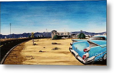 On The Mother Road 6 Metal Print by Alain Baudouin