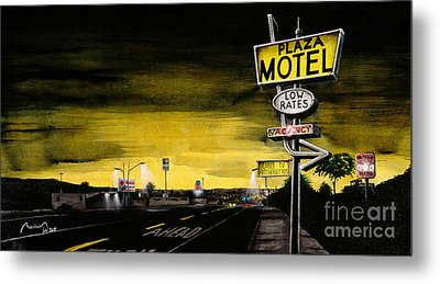 On The Mother Road Metal Print by Alain Baudouin