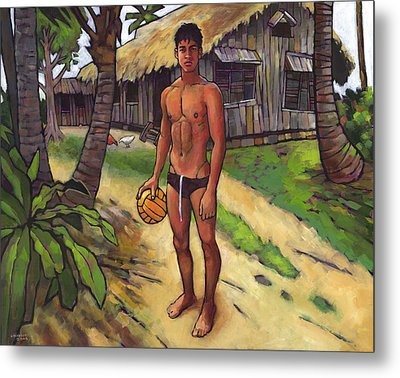 On The Old Beach Road Metal Print by Douglas Simonson