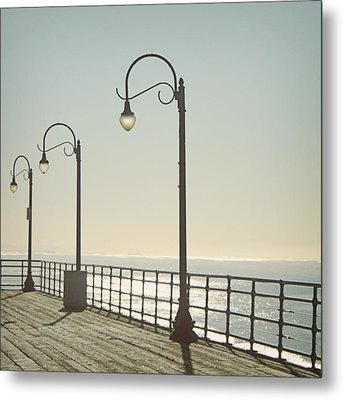 On The Pier Metal Print by Linda Woods