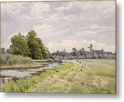 On The River Ouse Hemingford Grey Metal Print by William Fraser Garden