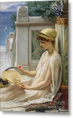 On The Terrace Metal Print by Sir Edward John Poynter
