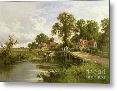 On The Thames Near Marlow Metal Print by Henry Parker