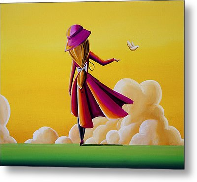 On The Wings Of A Dove Metal Print by Cindy Thornton