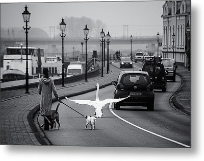 On The Wrong Side Of The Road Metal Print by Gerard Jonkman