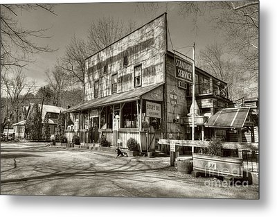 Once Upon A Story Sepia Tone Metal Print by Mel Steinhauer