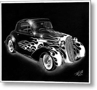One Hot 1936 Chevrolet Coupe Metal Print by Peter Piatt