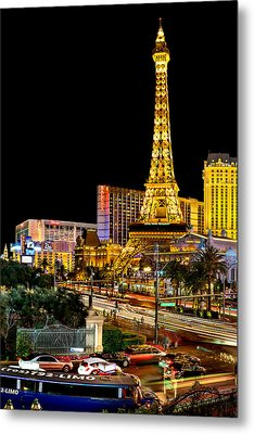 One Night In Vegas Metal Print by Az Jackson