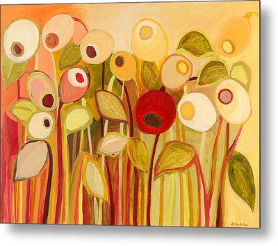 One Red Posie Metal Print by Jennifer Lommers