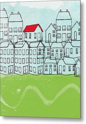 One Red Roof Metal Print by Linda Woods